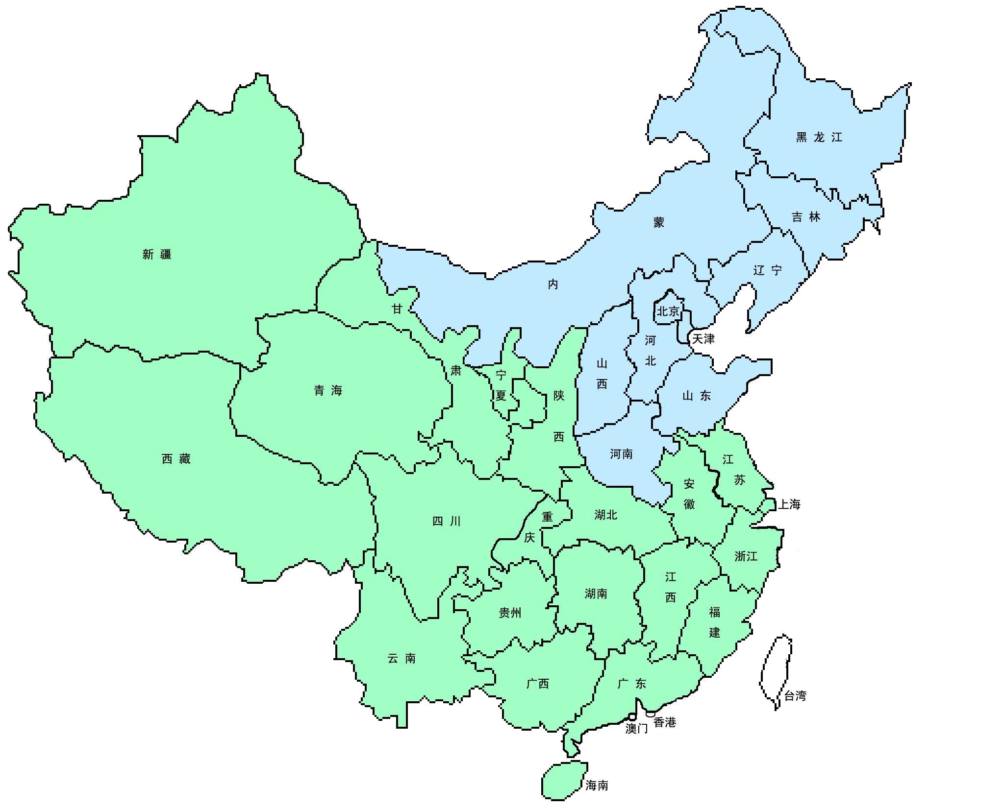 中国地图简笔_三分钟手绘中国地图