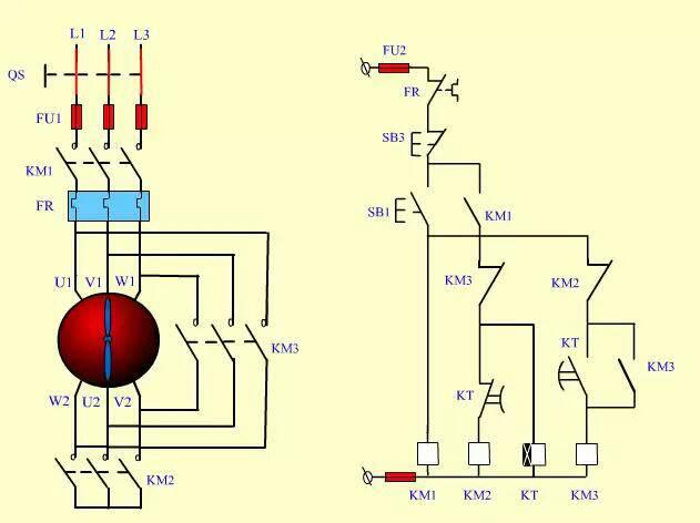 求教 星三角降压启动原理和控制回路原理