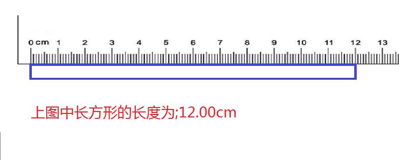 初中物理刻度尺读数,若读数是 整数是,12,最小刻度是1