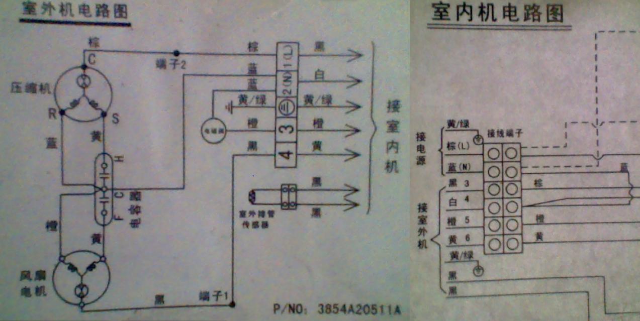 这个空调内外机接线图应该按顺序接还是应该对号接?