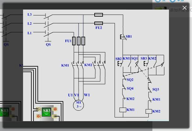 急求,电机的正反转加行程开关外带点动的电路图