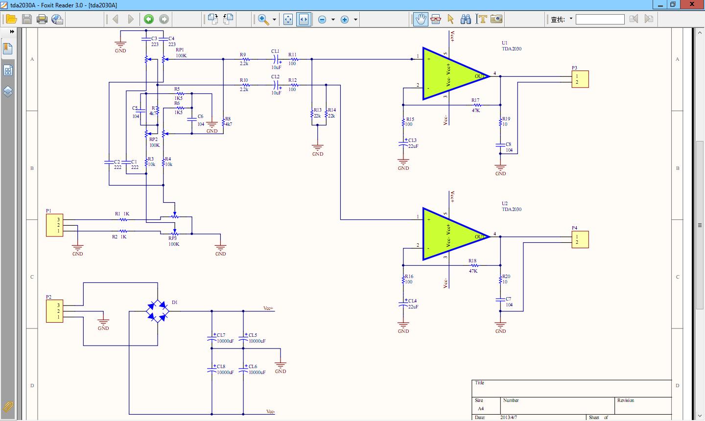 求tda2030制作的音频功放的接线图以及详细的工作原理