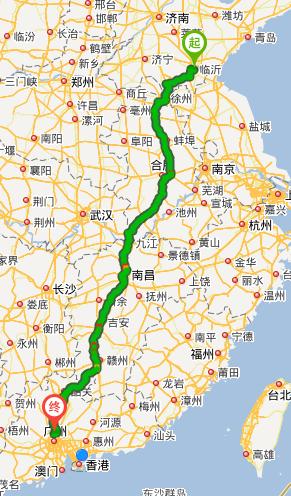 从临沂到广州市花都区开车怎么走