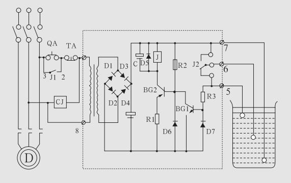 液位继电器接线图中的e1e2e3的工作原理