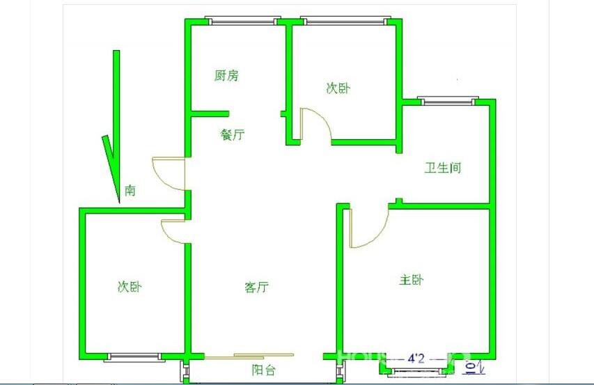 房子平面图朝向图片