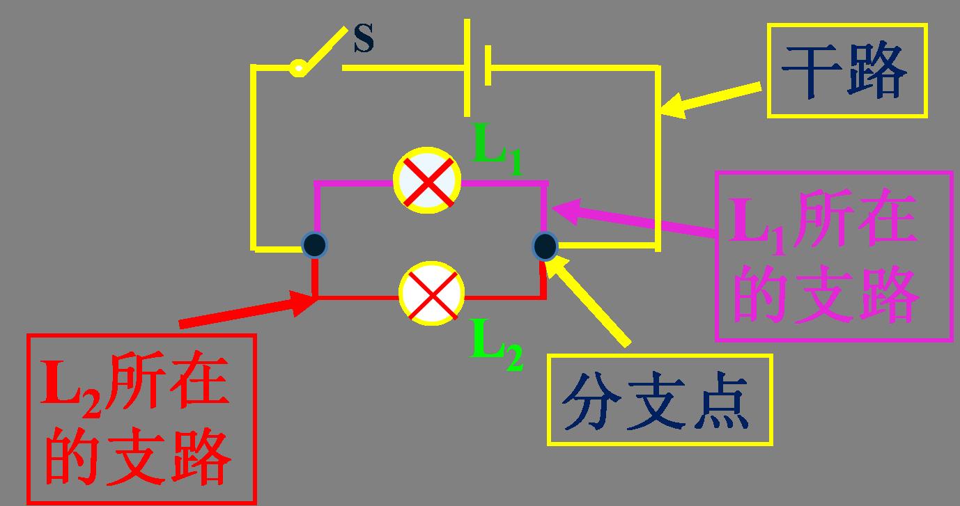 在一个实物电路图中,如何区分干路和支路?