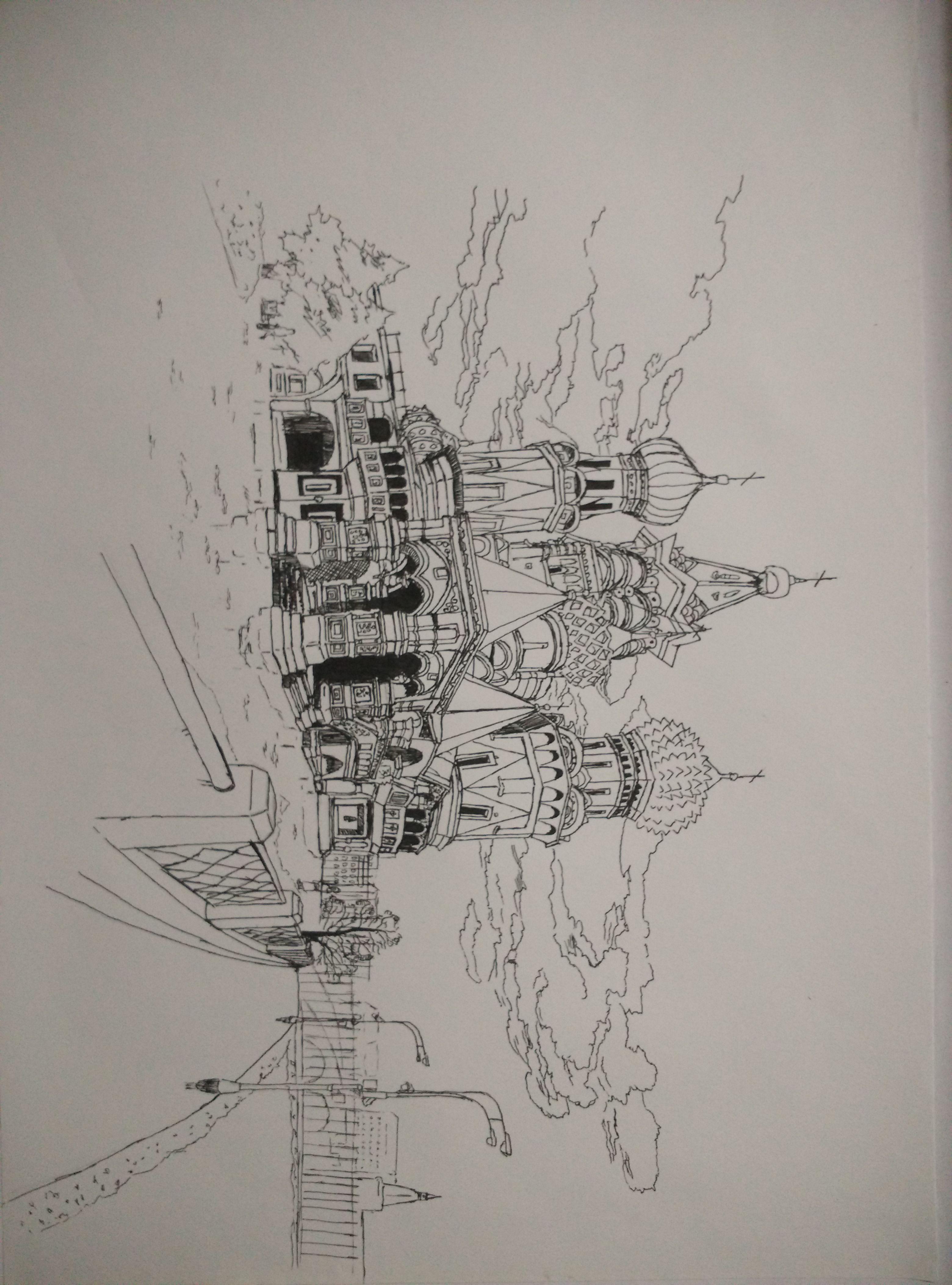 求建筑速写图片,越多越好,最好是钢笔速写,最好简单一