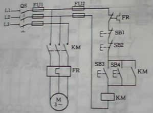 电动机异地控制电路图图片