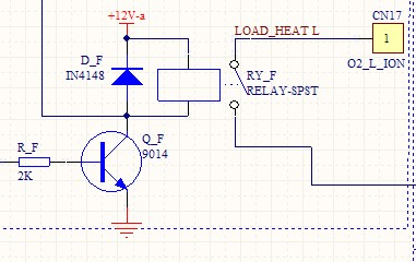 三极管的b接单片机的io口控制三极管的开关从而控制继电器 继电器的