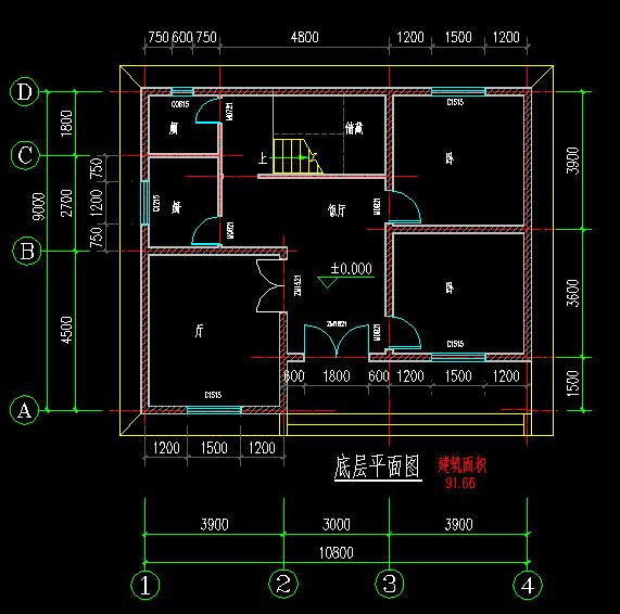 建筑设计图纸长11米宽9米要建有楼梯上2楼的
