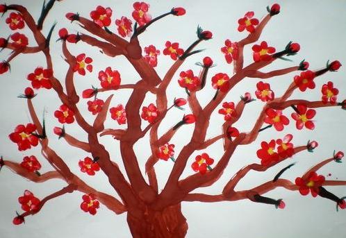 桃花怎么画 儿童画