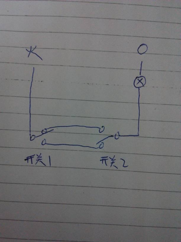 楼梯,卧室灯双开关怎么接线图,求大师指点迷津.