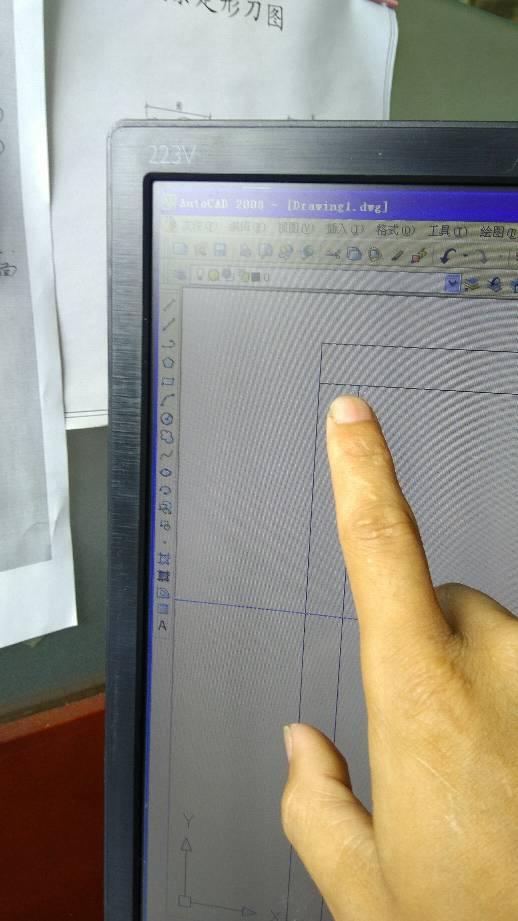 cad画这种带斜线的门框cad来位置中选中后v斜线射线图片