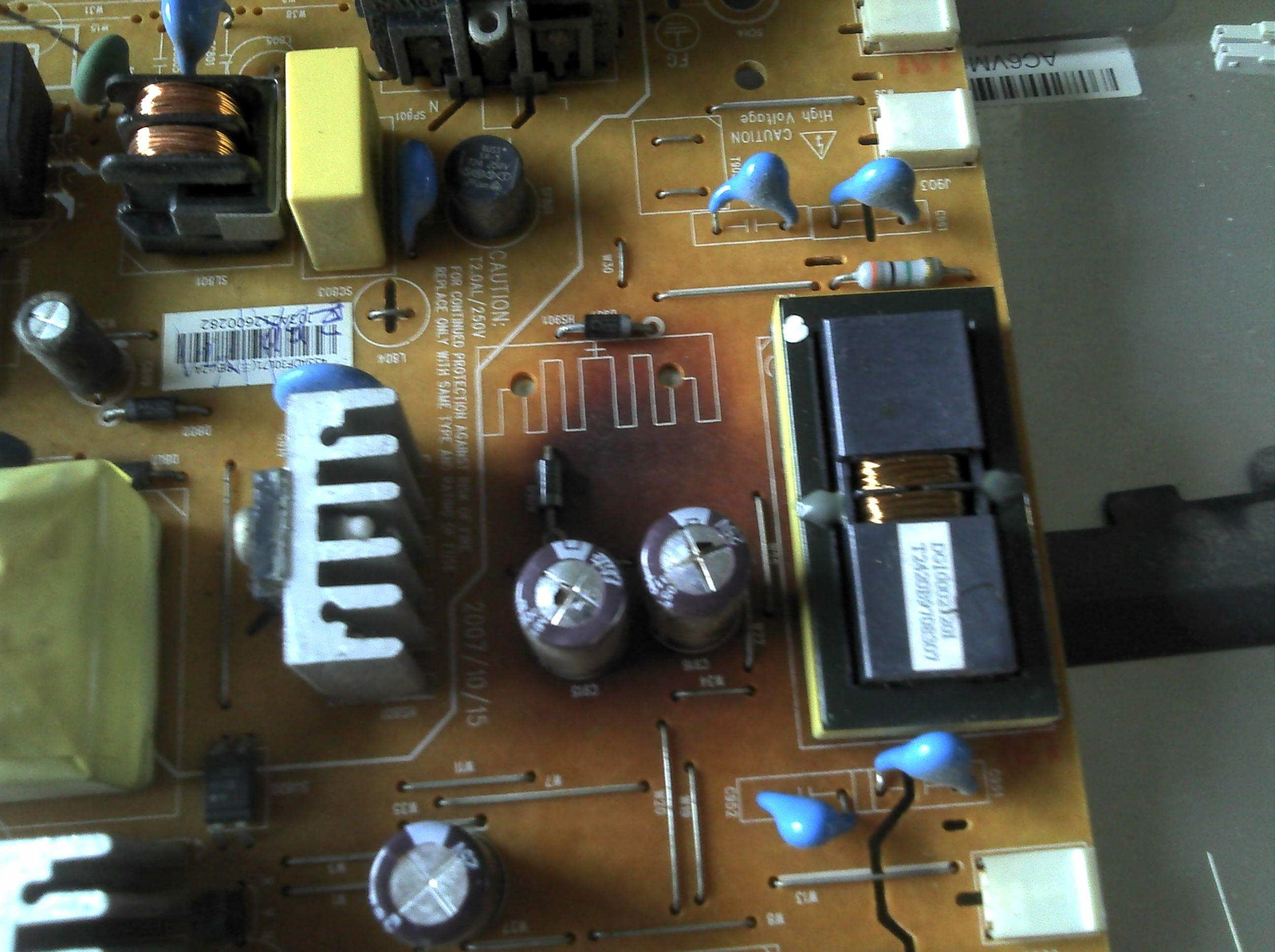 液晶显示器电源高压板这样了还有救吗?怎么修?