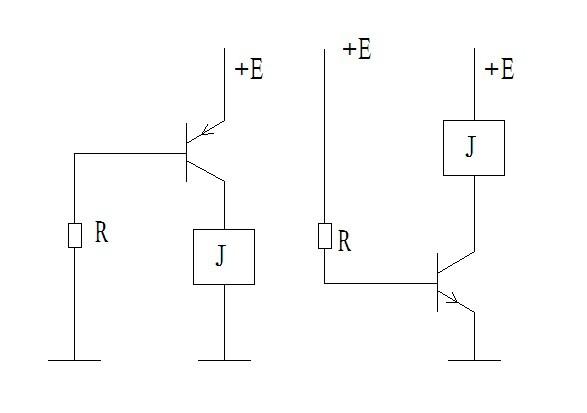 驱动蜂鸣器或者继电器,只是接法的问题 左边这个简易电路就是pnp管