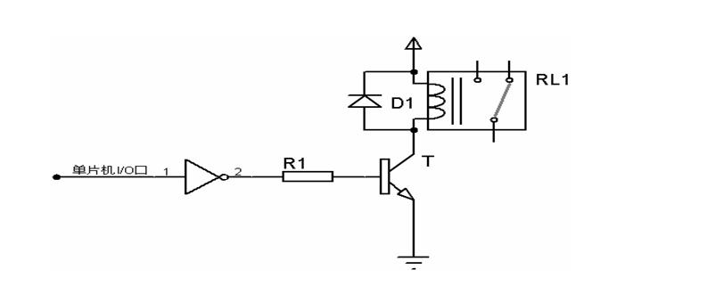 请问继电器典型应用电路中,为什么单片机的i/o的高低电平影响继电器的
