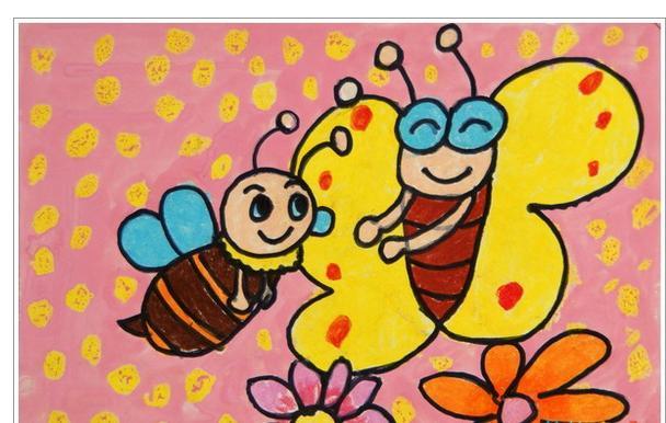 小蜜蜂怎么画
