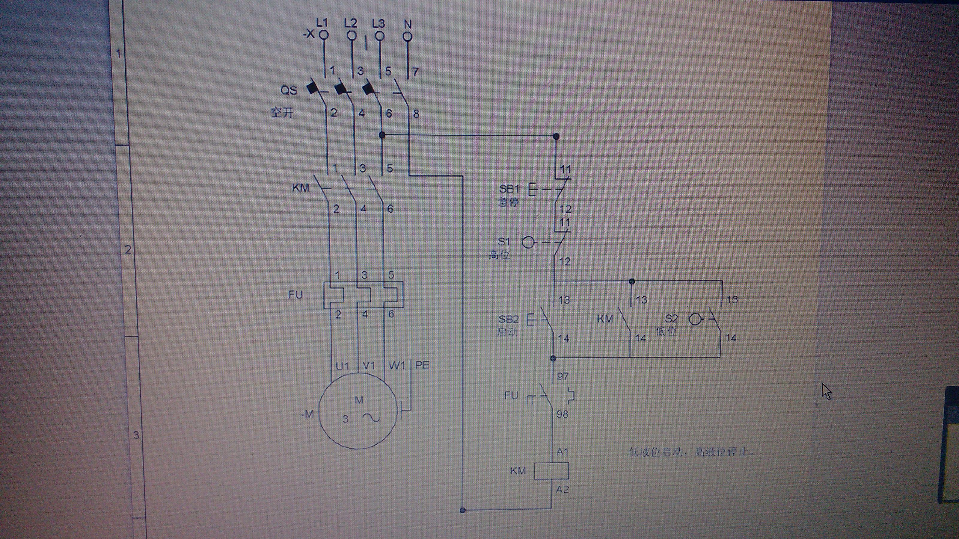 用一个浮球控制三相水泵接线图