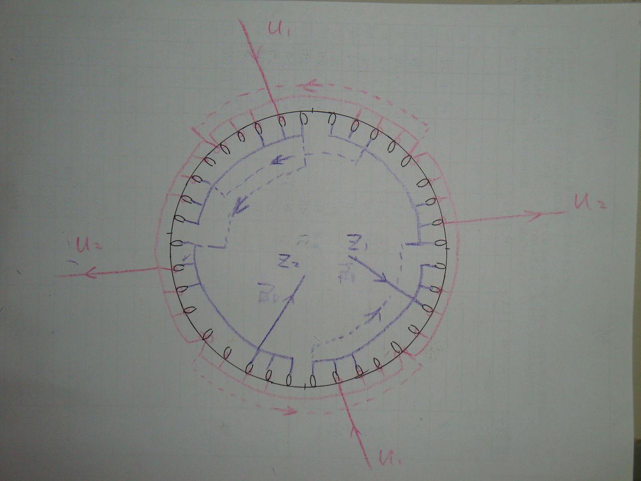 单相4级电机2路接法接线 求图解