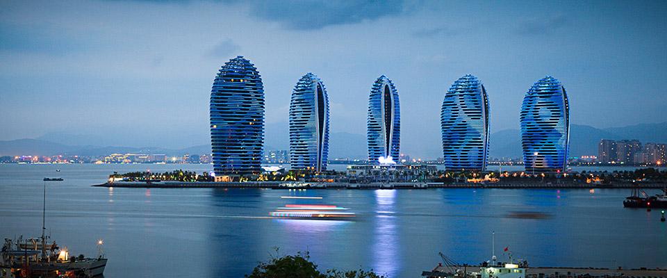 """凤凰岛位于三亚市三亚湾度假区""""阳光海岸""""的是在,之中礁盘别墅大海昌核心吗能风景区棋盘山北京买图片"""