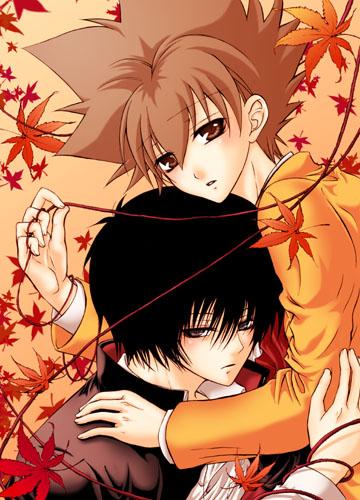 求情侣互相抱着睡觉的动漫图片,最好萌一点的,人类非人类都可以