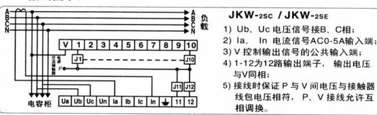 jkw—2sc智能无功补偿器(调试方法)