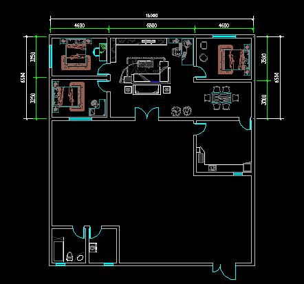 8米宽x17米长房间建筑设计图