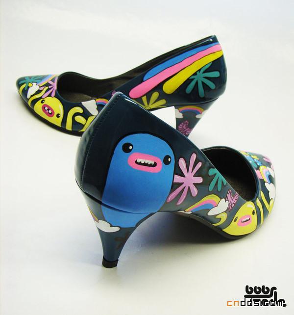 丙烯手绘鞋