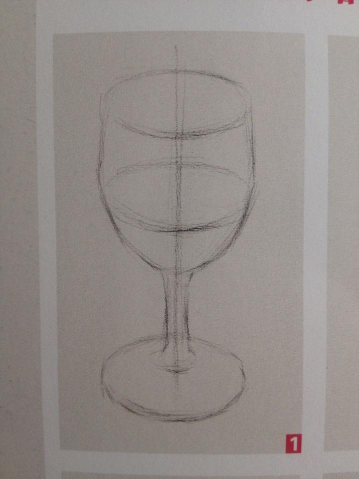 高脚酒杯素描详细步骤