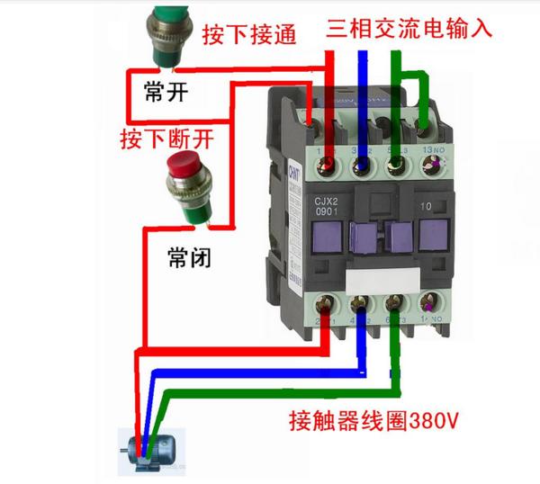 德力西交流接触器cdc10-20如何接线
