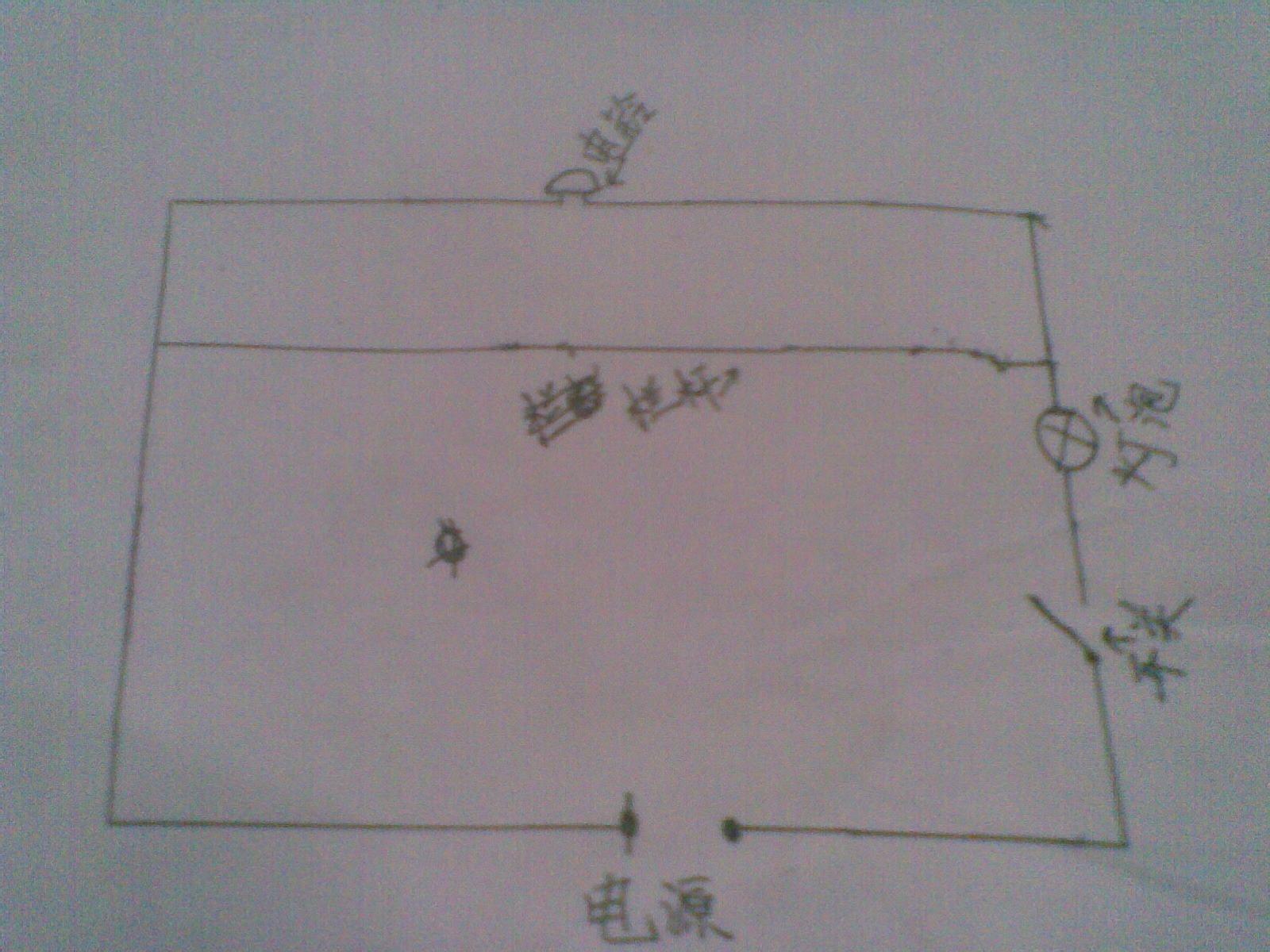就像我画的电路图似的,栏杆上的导线把电铃短路,牛群