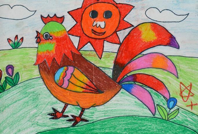 刚学画画的8岁儿童画画起来又漂亮又简单的画_百度图片搜索