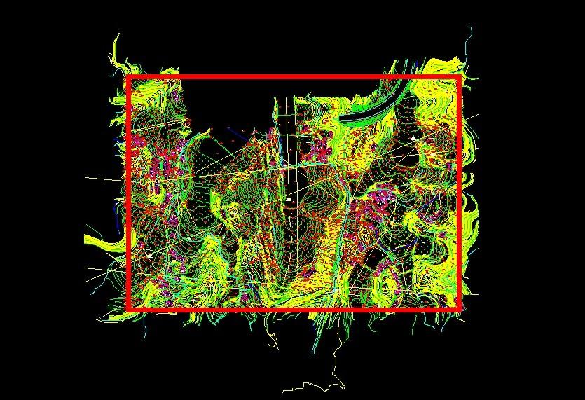 CAD在地形图删除的矩形,快捷地编辑图纸时候地下预埋图片