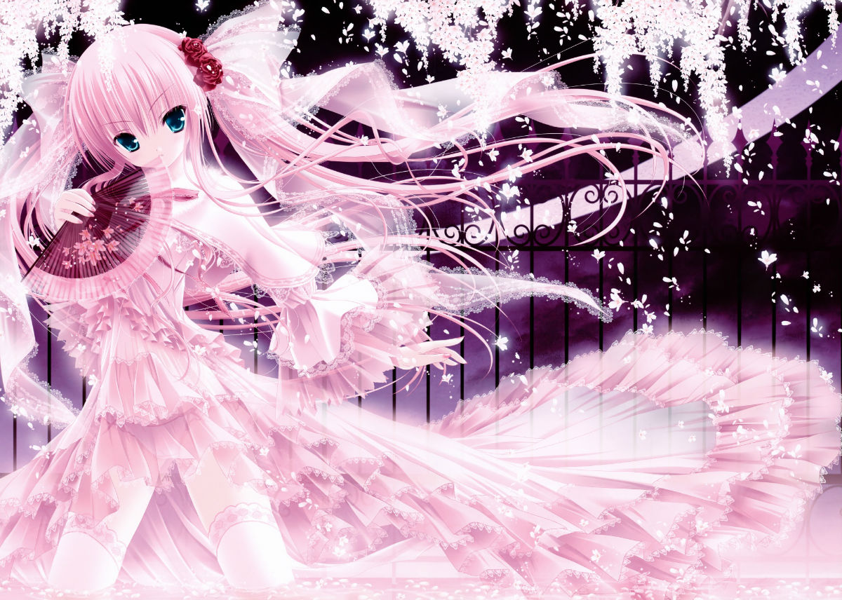 动漫人物图片粉衣女生可爱