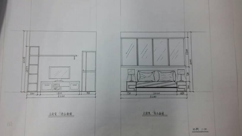 我手绘了一本室内家居套装设计,立面图,透视图,平面图