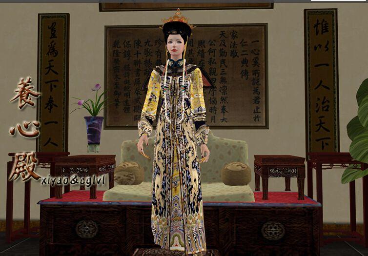 求模拟人生2和模拟人生4清朝的男女和头发,连体都要情趣内衣sm衣服镣铐图片