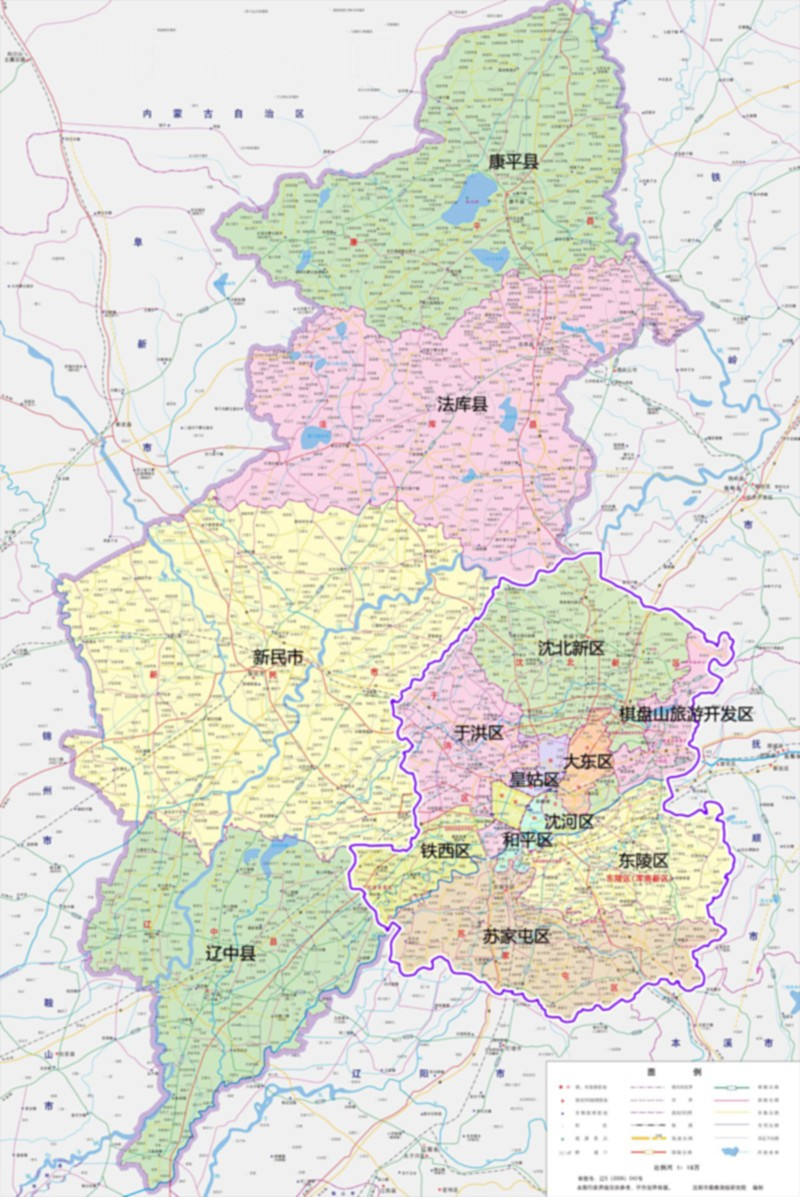 沈阳全市高清地图
