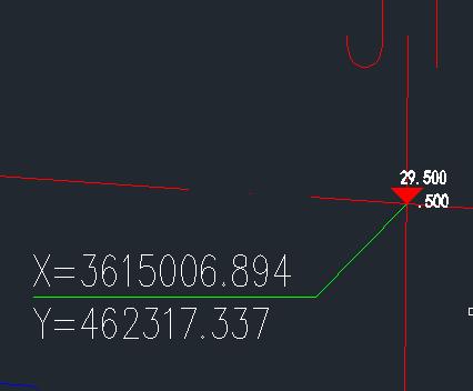 CAD海拔里这个三角形意思是代表坐标的标高cad图形转换excel图片