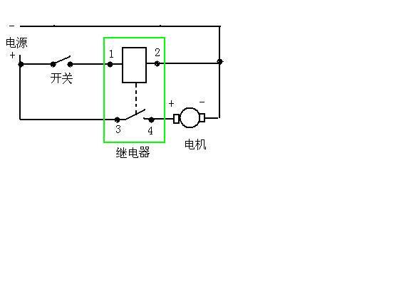 四脚继电器怎样马达接线