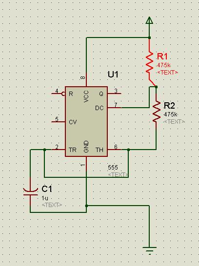 用555定时器设计一个周期t=1s的矩形脉冲信号源.要求