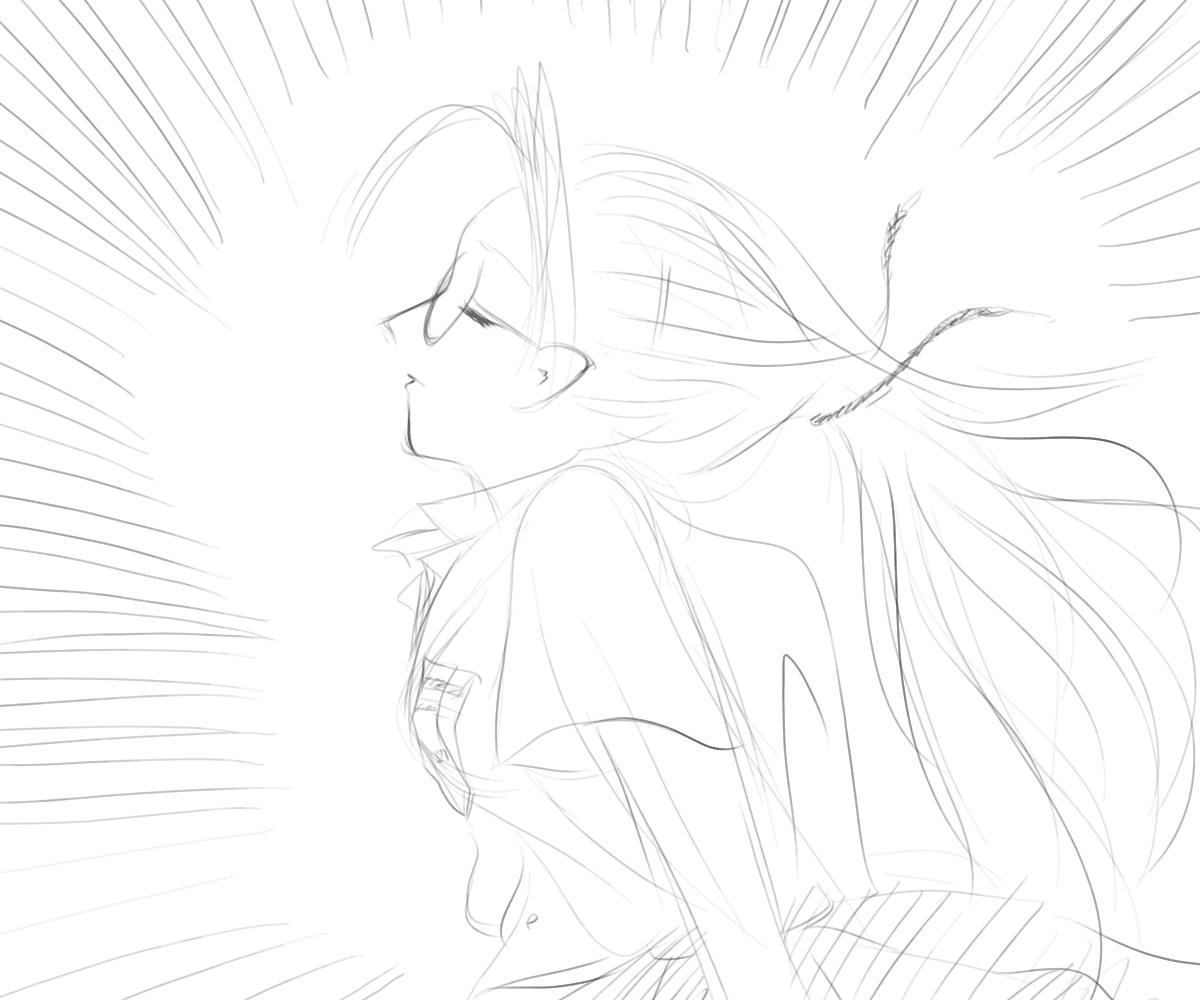 风中穿裙子少女铅笔画 要背影 被风吹动的裙子