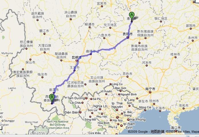 墨江县交通地图