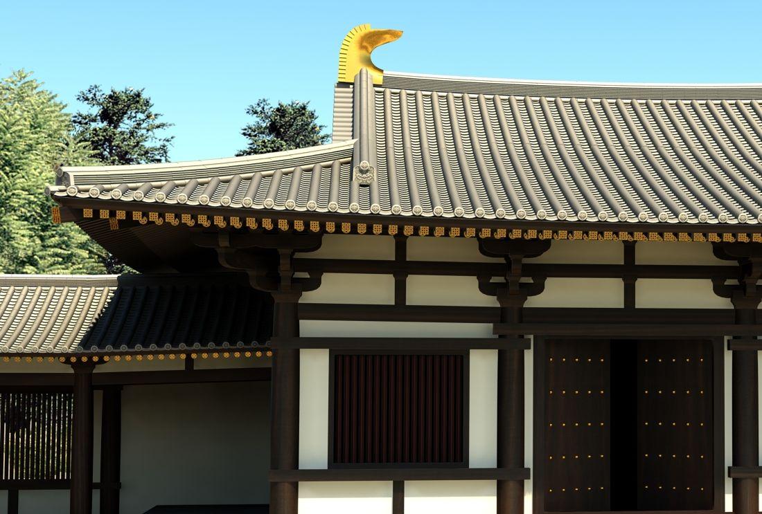 中国古建筑屋顶用3d怎样建模