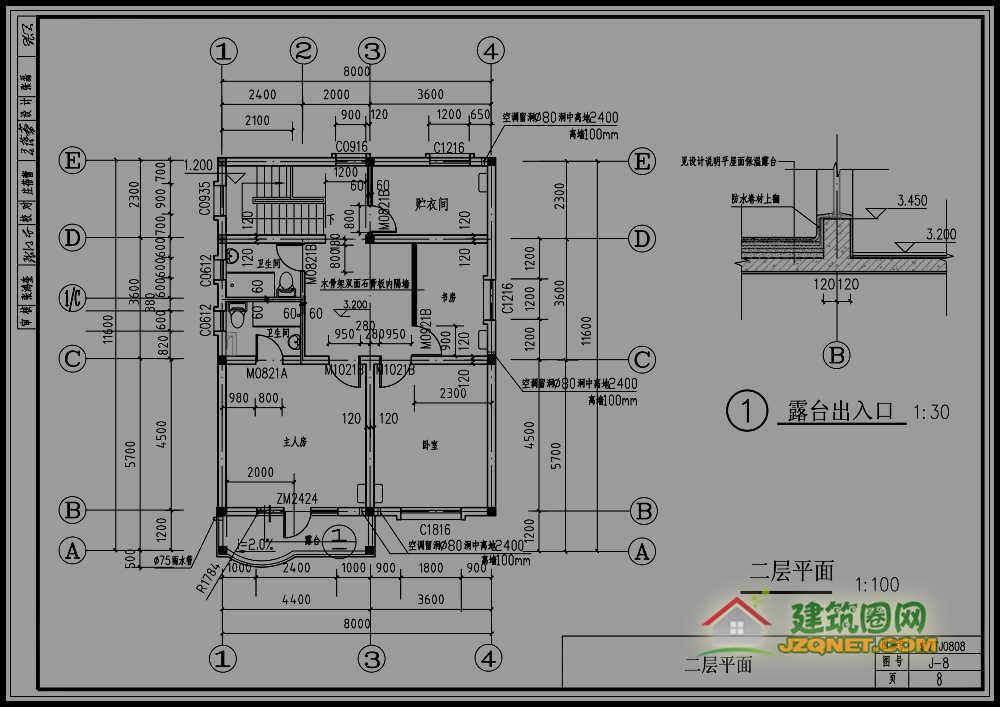 求两层80至100平米农村小别墅,总造价在10至12万元效果设计图.