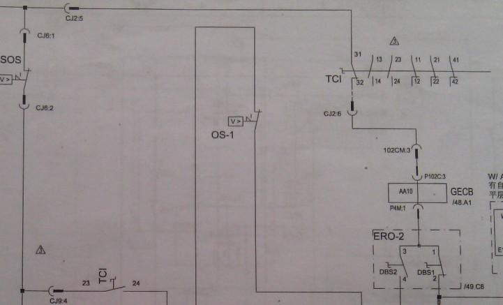 电梯电路图的 安全回路里,为什么会有两个tci,且一个常开一个常闭的