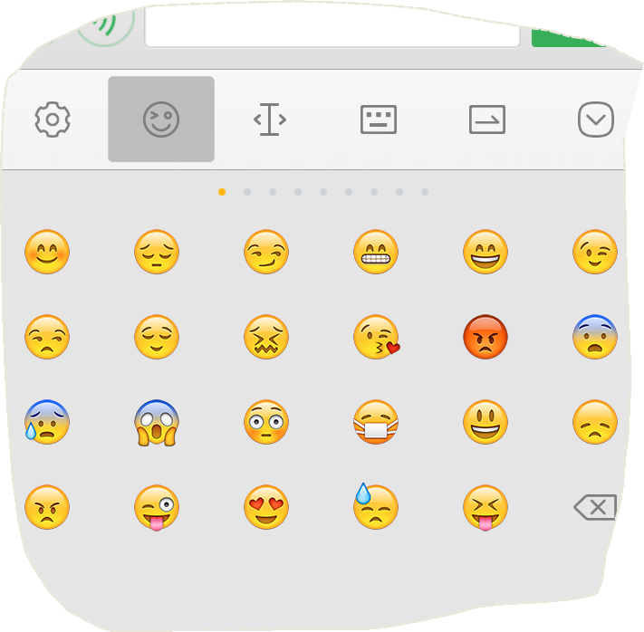 苹果手机里有个没有嘴巴的表情,打什么字会出现?图片