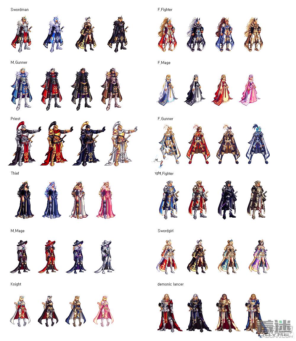 国庆套时装属性一览:(外观汇总在第二页)图片