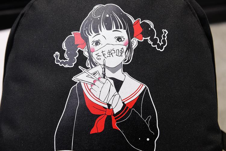 """戴口罩的女生头像动漫口罩上面有字和""""帅""""的是情侣的"""