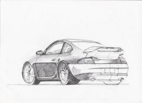 如何手绘汽车设计图