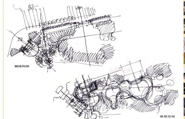 手绘功能空间分析图